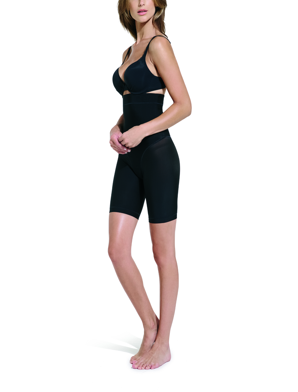 Sleek Microfibre Firming High Waist Thigh Slimmer